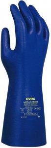 Rękawice chemoodporne Uvex Rubiflex S NB35B, rozmiar 8, niebieski