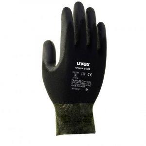 Rękawice powlekane Uvex Unipur 6639, rozmiar 9, czarny