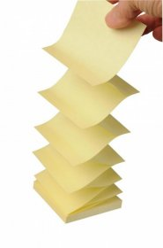 Notes samoprzylepny harmonijkowy Post-it Super Sticky Z-Notes, 76x76mm, 90 karteczek, żółty