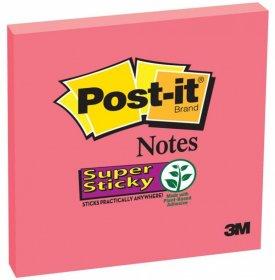 Notes samoprzylepny Post-it Super Sticky, 76x76 mm, 90 karteczek, czerwony