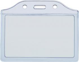 Holder do identyfikatorów Argo 2K-H blue, 55x90mm, 50 sztuk, przezroczysty