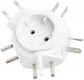 Adapter do urządzeń z wtyczką euro LogiLink, biały