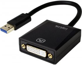 Adapter USB 3.0 do DVI LogiLink, czarny