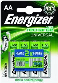 Akumulator Energizer Universal, AA, HR6, 1.2V, 1300mAh, 4 sztuki