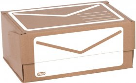 Karton pocztowy Elba, 230x165x100mm (A5+), brązowy