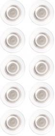 Magnesy do tablic szklanych Nobo, Rare Earth, 10 sztuk, transparentny