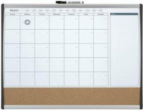 Planer miesięczny Rexel, 585x430mm, biało-brązowy