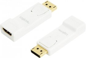 Adapter DisplayPort do HDMI 1.4 LogiLink, biały