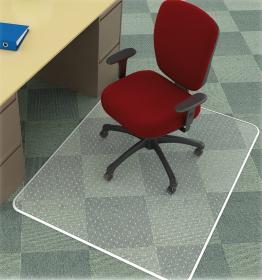 Mata podłogowa pod krzesło Q-connect, 150x120cm, prostokątny, miękka, przezroczysty
