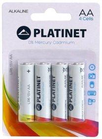 Bateria alkaliczna Platinet, AA, 4 sztuki