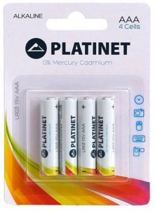 Bateria alkaliczna Platinet, AAA, 4 sztuki