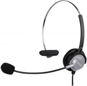 Zestaw słuchawkowy do telefonów bezprzewodowych Hama, czarny
