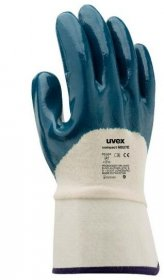 Rękawice powlekane Uvex Compact NB27E, rozmiar 10, biało-granatowy