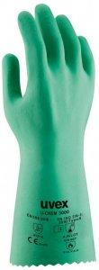 Rękawice chemoodporne Uvex U-chem 3000, rozmiar 7, zielony