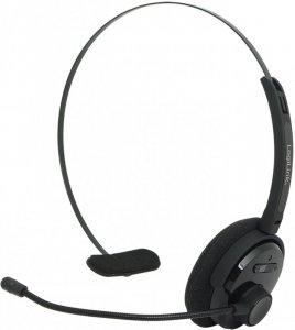 Słuchawki bezprzewodowe mono LogiLink, Bluetooth z pałąkiem i mikrofonem, czarny