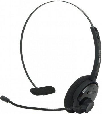 7988583f2d42d Słuchawki bezprzewodowe mono LogiLink, Bluetooth z pałąkiem i mikrofonem,  czarny - Hurtownia Ofix.pl