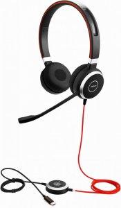 Słuchawki przewodowe Jabra Biznes Evolve 40, złącze USB i jack 3,5 mm, czarny