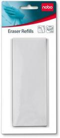Wkład wymienny do gąbki magnetycznej Nobo, 10 sztuk, biały