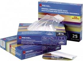 Worki plastikowe Rexel, na ścinki do niszczarek, 40 litrów, 100 sztuk