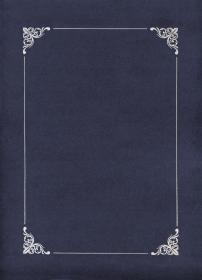 Teczka ozdobna na dyplom Galeria Papieru, 220x308mm, ze srebrną ramką, 10 sztuk, granatowy