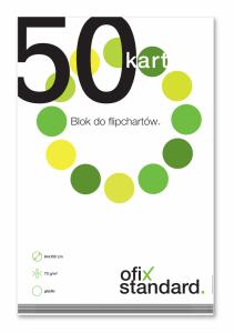 Blok do flipchartów Ofix Standard, 100x64cm, gładki, 50 kart