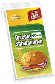 Torebki śniadaniowe papierowe Jan Niezbędny, 40 sztuk