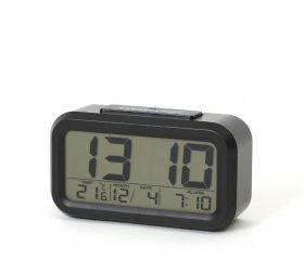 Zegar z budzikiem Platinet Digital 01, tarcza kolor czarny, obudowa kolor czarny
