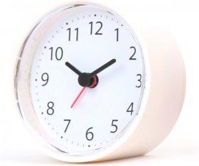 Zegar z budzikiem Platinet Sunday, tarcza kolor biały, obudowa kolor biały