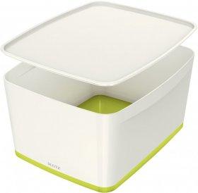 Pojemnik z pokrywką Leitz MyBox Wow,18l, biało/zielony