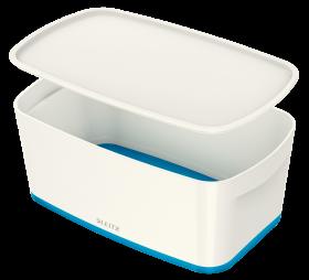 Pojemnik z pokrywką Leitz MyBox Wow,5l, biało-niebieski