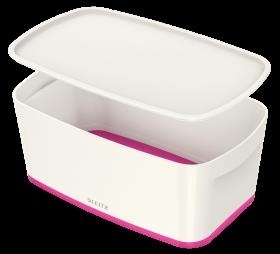 Pojemnik z pokrywką Leitz MyBox Wow, 5l, biało-różowy