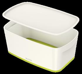 Pojemnik z pokrywką Leitz MyBox Wow, 5l, biało/zielony