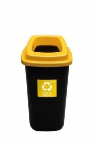 Kosz do segregacji odpadów Plafor Sort Bin, 45l, czarno-żółty