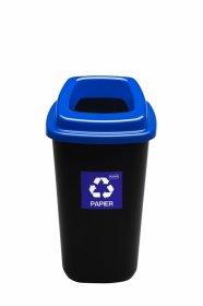Kosz do segregacji odpadów Plafor Sort Bin, 45l, czarno-niebieski