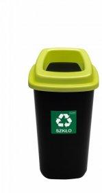 Kosz do segregacji odpadów Plafor Sort Bin, 28l, czarno-zielony