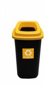 Kosz do segregacji odpadów Plafor Sort Bin, 28l, czarno-żółty
