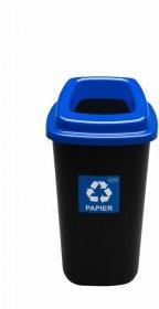 Kosz do segregacji odpadów Plafor Sort Bin, 28l, czarno-niebieski