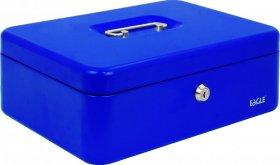 Kasetka na pieniądze Eagle 8878L, 100x217x300mm, niebieski