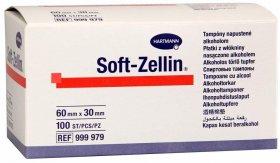 Płatki z włókniny nasączone alkoholem Hartmann, Soft-Zellin, 100 sztuk