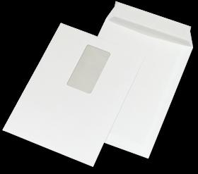 Koperta standardowa NC, C5, samoklejąca SK, krótki bok, okno lewe, 50 sztuk, biały