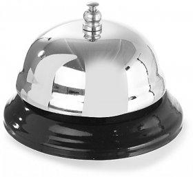 Dzwonek recepcyjny Hendi, 85x60mm, stal/tworzywo sztuczne,  srebrno-czarny