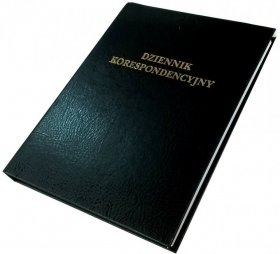 Dziennik korespondencyjny Barbara, A4, 300 kart, czarny