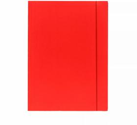 Teczka z gumką Barbara, A4, klejona, lakierowana, czerwony
