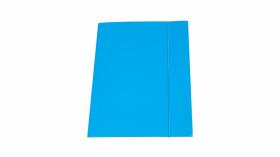 Teczka z gumką Barbara, A4, klejona, lakierowana, niebieski