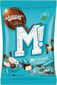 Cukierki Michałki Wawel, kokosowe w deserowej czekoladzie, 1kg