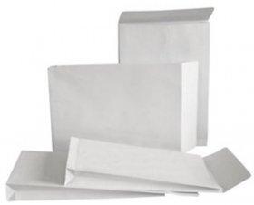 Koperta rozszerzana Bong, E4, z paskiem HK, 10 sztuk, biały