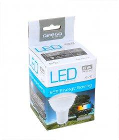 Żarówka Led Omega spotlight, 6W, GU10, ciepły, biały