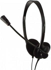 Słuchawki przewodowe stereo LogiLink, Easy z mikrofonem, czarny