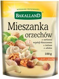 Mieszanka orzechów Bakalland, 100g