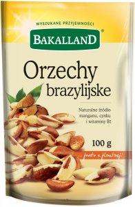 Orzechy brazylijskie Bakalland, 100g